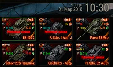 1.7.0.1 Tank Carousel Stats